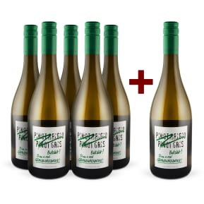 5+1-Set Emil Bauer 'Pinot Grigio, Pinot Gris, Bullshit' Drink real Grauburgunder 2016