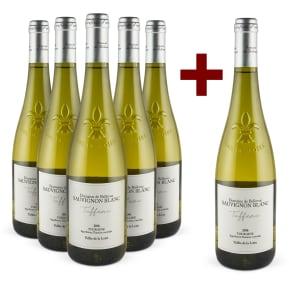 5+1-Set Domaine de Bellevue Sauvignon Blanc 'Tuffeau' Touraine 2016