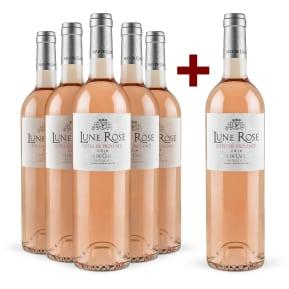 5+1-Set Mas de Cadenet Rosé 'Lune Rose' Côtes de Provence 2016