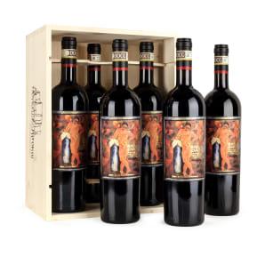 6 flessen Castello Romitorio Brunello di Montalcino 2007 in wijnkistje