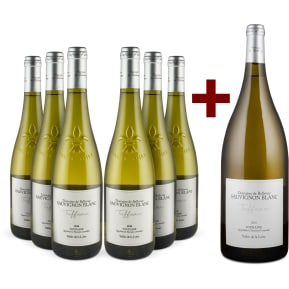 Domaine de Bellevue Sauvignon Blanc 'Tuffeau' Touraine 2016 6er+Gratis-Magnum-Set