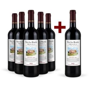 6 halen 5 betalen Viña San Martín Rioja Crianza 2014 pakket
