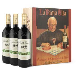 Caisse bois 3 bt. La Rioja Alta 'Gran Reserva 904' Cosecha 2007