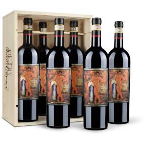 Caisse bois 6 bouteilles – Castello Romitorio Brunello di Montalcino 2008