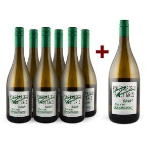 Emil Bauer 'Bullshit' Drink real Grauburgunder 2017 6er+Gratis-Magnum-Set