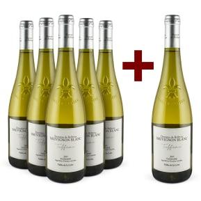 5+1-Set Domaine de Bellevue Sauvignon Blanc 'Tuffeau' Touraine 2017