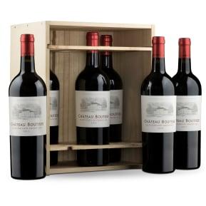Caisse bois 6 bouteilles Château Boutisse Saint-Émilion Grand Cru 2015