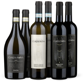 Wine in Black 2+2+2 'Curtis Nova Pinot Grigio, Gavi & Primitivo'-Set