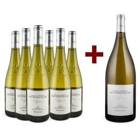 Domaine de Bellevue Sauvignon Blanc 'Tuffeau' Touraine 2017 6er+Gratis-Magnum-Set