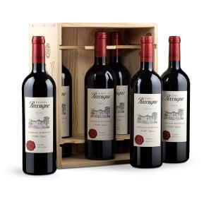Offre 6bt. Château Recougne Vieilles Vignes Bordeaux Supérieur2015 + caisse bois d'origine