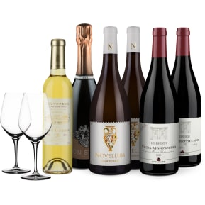 Wine in Black 'Gourmet-Dinner'-Set + 2 Gratis-Spiegelau-Gläser
