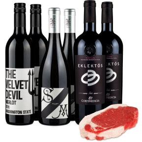Wine in Black & Kreutzers - 'US-Roastbeef meets Rotwein'-Set