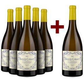 '6 halen, 5 betalen' pakket Les Producteurs Réunis Chardonnay 'Boulée-Cordot' 2017