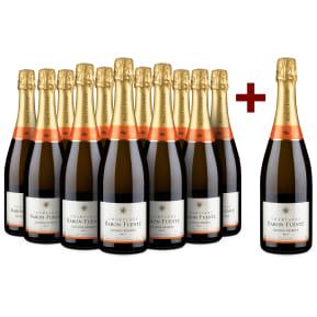 Champagne Baron-Fuenté 'Grande Réserve' Brut 11+1-Set