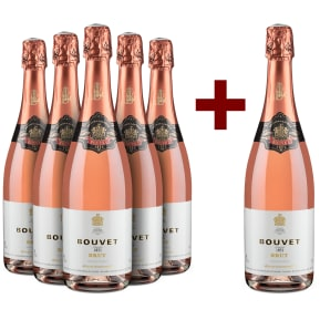5+1-Set Bouvet Ladubay '1851' Méthode Traditionnelle Rosé Brut