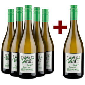 5+1-Set Emil Bauer 'Pinot Grigio, Pinot Gris, Bullshit' Drink real Grauburgunder 2018