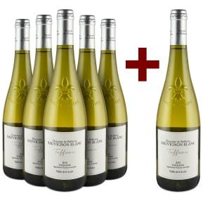 5+1-Set Domaine de Bellevue Sauvignon Blanc 'Tuffeau' Touraine 2018
