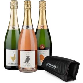 Wijngoed Ontdekkingspakket: Champagne Jean de La Fontaine + Gratis Koeler