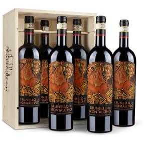 Caisse bois 6 bouteilles - Castello Romitorio Brunello di Montalcino 2010