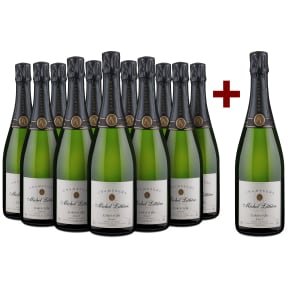 11+1-Set Champagne Michel Littière Champagne 'Carte d'Or' Brut
