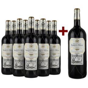 9er+Gratis-Magnum-Set Marqués de Riscal Rioja Reserva 2014