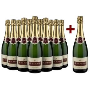 '12 halen, 11 betalen' pakket Champagne Jean-Pierre Patigny 'Brut Tradition' Premier Cru