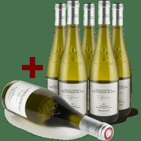 6 halen, 5 betalen Domaine de Bellevue Sauvignon Blanc 'Tuffeau' Touraine 2015