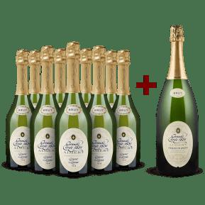 Sieur d'Arques 'Grande Cuvée 1531 de Aimery' Crémant de Limoux Brut 9er+Gratis-Magnum-Set