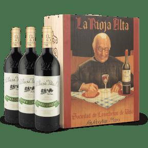 3 flessen in wijnkistje: La Rioja Alta 'Gran Reserva 904' Cosecha 2007