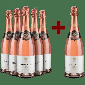 5+1-Set Bouvet Ladubay '1851' Méthode Traditionnelle Rosé Brut