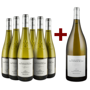 6er+Gratis-Magnum-Set Domaine de Bellevue Sauvignon Blanc 'Tuffeau' Touraine 2018