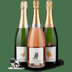 Winzer-Entdecker-Set: Champagne Jean de La Fontaine + Gratis-Sektverschluss
