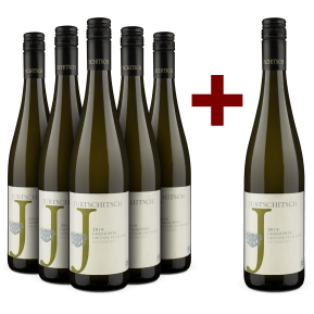 '6 halen, 5 betalen' pakket Jurtschitsch Grüner Veltliner 'Grashüpfer' 2019 - bio