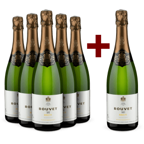 5+1 Set Bouvet Ladubay '1851' Blanc Méthode Traditionelle NV