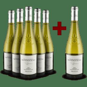 5+1-Set Domaine de Bellevue Sauvignon Blanc 'Tuffeau' Touraine 2019