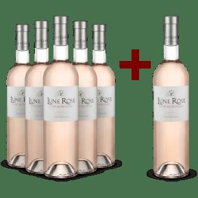 5+1-Set Mas de Cadenet Rosé 'Lune Rose' Côtes de Provence 2019 - Bio