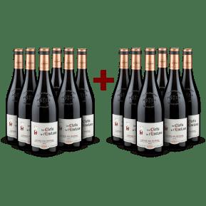 6+6-Set Vignerons de l'Enclave 'Les Clefs de l'Enclave' Côtes du Rhône 2018