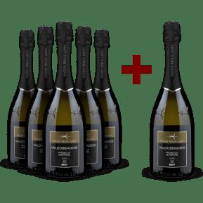 '6 halen, 5 betalen' pakket Bacio della Luna Prosecco Superiore Brut Conegliano Valdobbiadene 2019