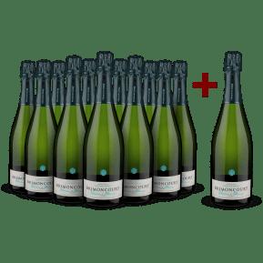 '12 halen, 11 betalen' pakket Champagne Brimoncourt Blanc de Blancs Brut NV