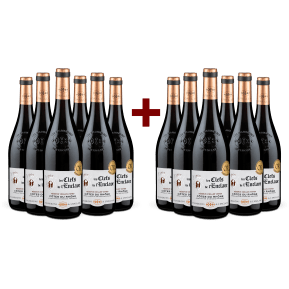 6+6-Set Vignerons de l'Enclave Côtes du Rhône 'Les Clefs de l'Enclave' Vieilles Vignes 2019