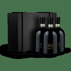 Feudi di San Gregorio 'Feudi Studi Rosamilia' Taurasi - Jaargangen 2013-2014-2015 in houten wijnkistje