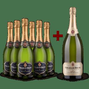 Graham Beck 6 bouteilles 'Méthode Cap Classique' Blanc de Blancs 2016 + 1 magnum offert 'Méthode Cap Classique' Brut non millésimé
