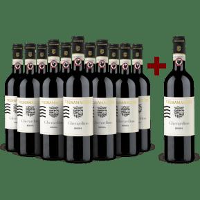 '12 halen, 11 betalen' pakket Vignamaggio 'Gherardino' Chianti Classico Riserva 2016