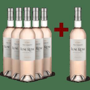 5+1-Set Mas de Cadenet Rosé 'Lune Rose' Côtes de Provence 2020 - Bio