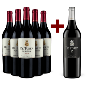 5 flessen De Toren 'Fusion V' 2017 + 1 fles De Toren 'Z' 2016
