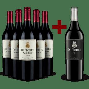 5 bouteilles De Toren 'Fusion V' 2017 + 1 bouteille offerte De Toren 'Z' 2016
