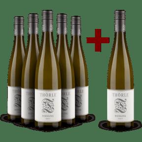5+1-Set Thörle Riesling trocken 'Fass 9' 2020