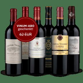 Wine in Black 'Tour de Bordeaux'-Set + VINUM-Abo
