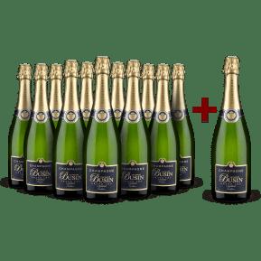 '12 halen, 11 betalen' Jaques Busin champagne pakket 'Tradition' Verzenay Grand Cru Brut NV