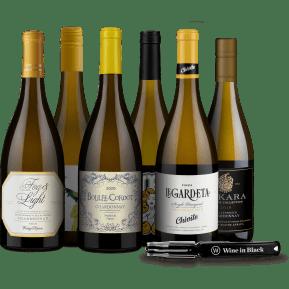 Wine in Black 'Charming Chardonnay' pakket met flesopener